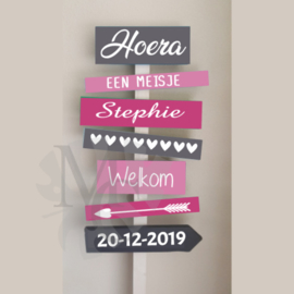 Stickers: Geboorte meisje (tbv. sign bord)