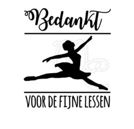 Bedankt voor de fijne lessen - Ballet