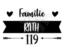 Banner familie naam en huisnummer
