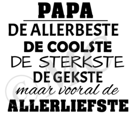 Papa de allerbeste de coolste