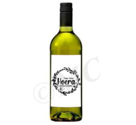 Wijnfles etiket: Hiep hiep hoera gefeliciteerd
