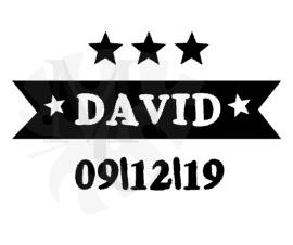 Geboorte sticker Naam banner