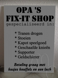 Opa's fix-it shop