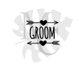 champagneglas sticker: Groom