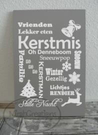 """Tekstbord : Kerstmis """"woorden"""""""