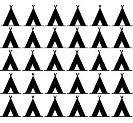 Muurdecoratiesticker: Wigwam (diverse maten)