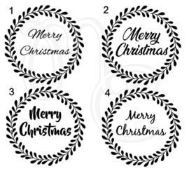 Sticker - Merry christmas krans