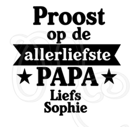 Proost op de allerliefste papa / opa (banner)