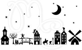 Statisch - Compleet straatje  sint kerst (met of zonder halloween)