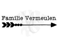 Familie naam met pijl