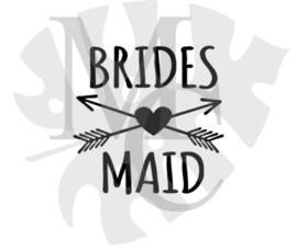 champagneglas sticker: Bridesmaid