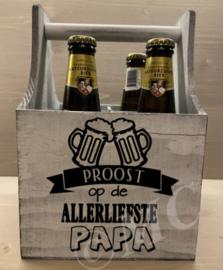 """Bierkratje - Proost op de allerliefste papa """"bierpul"""""""