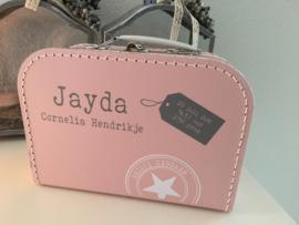 Maatwerk geboorte koffertje