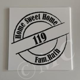 Naambordje -  home sweet home