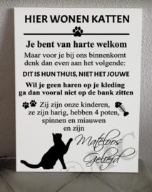 Hier wonen katten