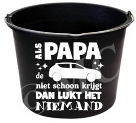 Sticker : Als papa de auto niet schoon krijgt