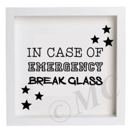 """3d fotolijstje """"In case of emergency"""""""