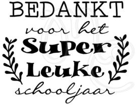 Bedankt voor het super leuke schooljaar