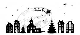 Statisch - Kerst kerk raamsticker