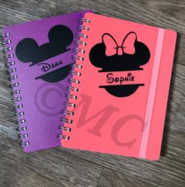 Traktatie naam stickers Mickey Minnie
