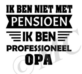 Ik ben niet met pensioen
