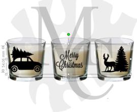 Sticker - auto / merry christmas / hert