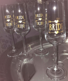 champagneglas sticker: Bridesmaid