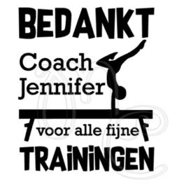 Bedankt coach - Turnen / gymnastiek