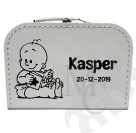 Geboorte koffertje : Baby met boekje (jongen/meisje)