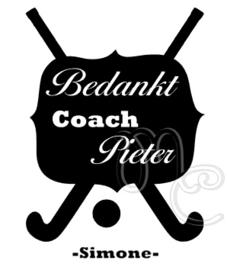 Bedankt coacht - Hockey