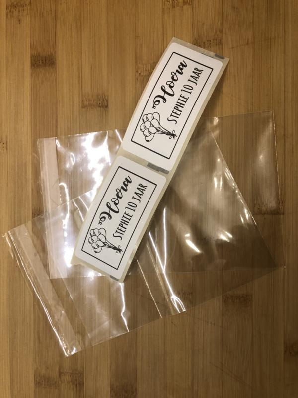 Zakjes voor het sluit etiket