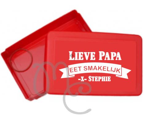 Sticker : Lieve papa / opa eet smakelijk