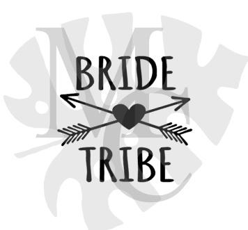 champagneglas sticker: Bride Tribe