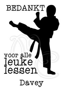 Bedankt - Judo / vechtsport