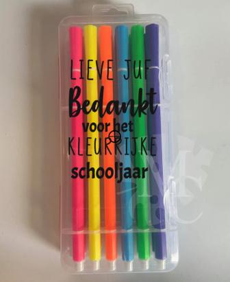 Stiften luxe  - Lieve juf/meester bedankt voor het kleurrijke schooljaar