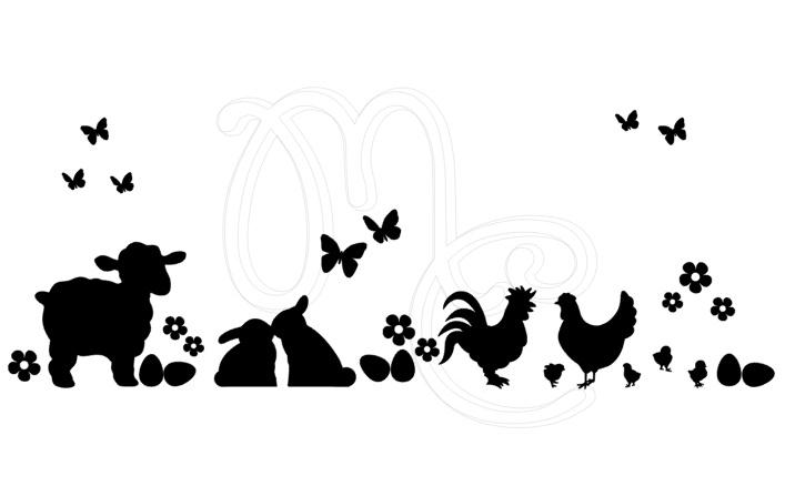 Statisch - Voorjaar lammetje kippetjes konijntjes