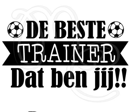 De beste trainer dat ben jij