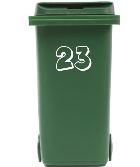 Container / kliko sticker huisnummer open