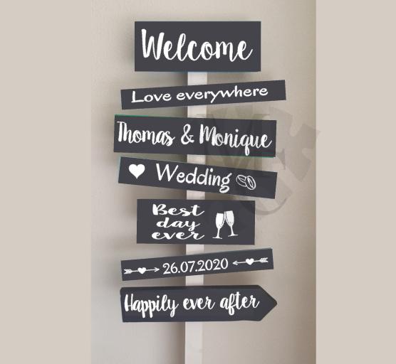 Stickers: Huwelijk (tbv. sign bord)