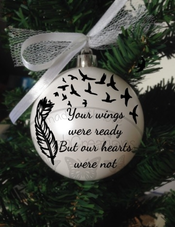 """Kerstbal """"Your wings were ready"""""""
