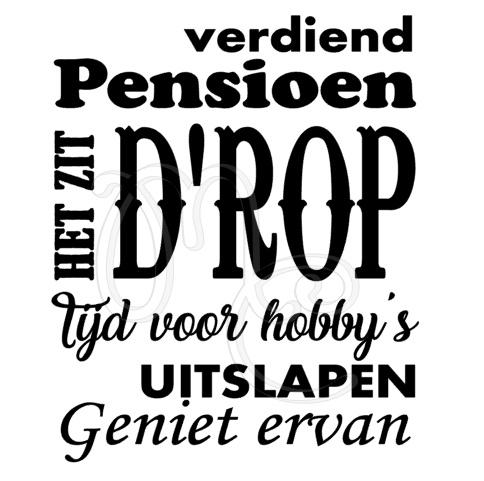 pensioen het zit drop
