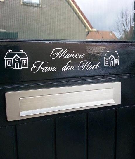 "Maison ""fam. naam"""
