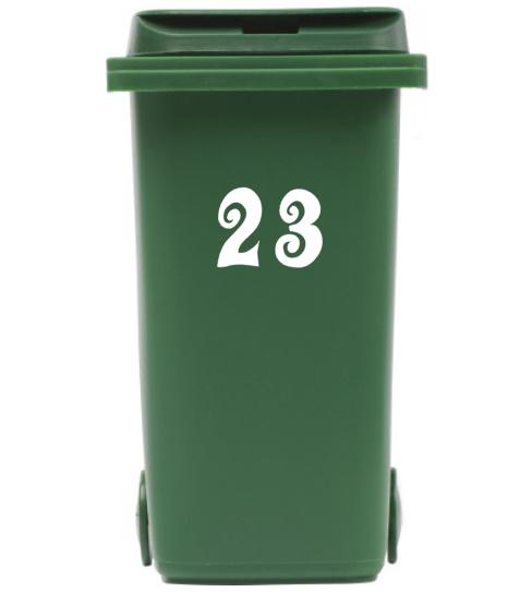 Container / kliko sticker huisnummer