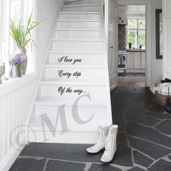 I love you every step of the way (sierletters) traptekst