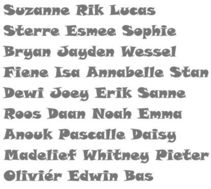 Traktatie naam stickers no3