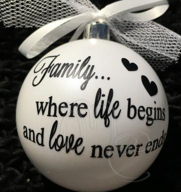 """Kerstbal """"Family """""""