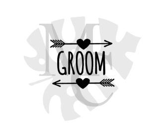 champagneglas sticker: Groom