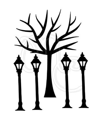 Sticker - Uitbreidingsset Boom en lantaarnpalen