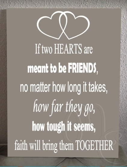 If two hearts are meant to be