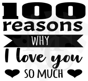 100 reasons why i love you so much